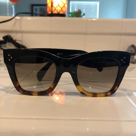 6a7c60a6738 Celine Accessories - Celine Black Tortoise Havana Sunglasses